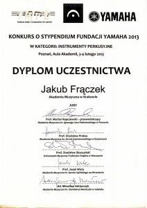 Konkurs o Stypendium Fundacji Yamaha