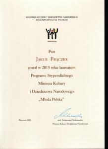 Młoda Polska - Program Stypendialny Ministra Kultury i Dziedzictwa Narodowego